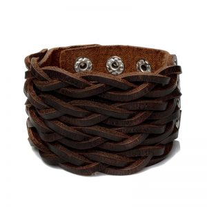 Braided 3 Clasps Wide Cuff Wristband1