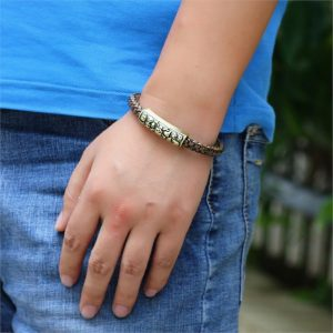 Braided magnetic leather bracelet3