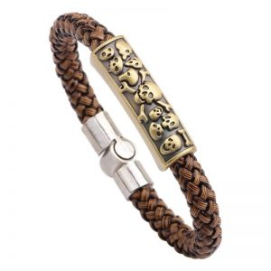 Braided magnetic leather bracelet4
