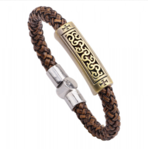 Braided magnetic leather bracelet5