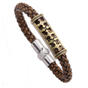 Braided magnetic leather bracelet6