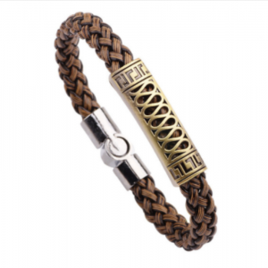 Braided magnetic leather bracelet7