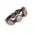 Fashion Screw Design Brown Leather Bracelet1