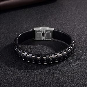 Punk Black Braided Bracelet2