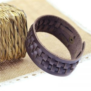 Punk Brown Leather Bracelet1