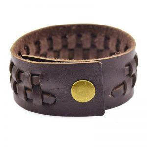 Punk Brown Leather Bracelet2