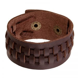 Punk Brown leather bracelet