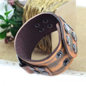 Vintage Brown Leather Bracelet1