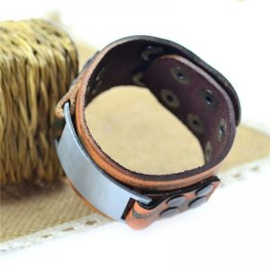 Vintage Brown Leather Bracelet2