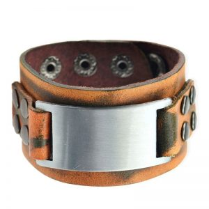Vintage Brown Leather Bracelet3
