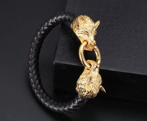 Plated-Gold-Stainless-Steel-Wolf-Clasp-With-3