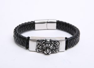Premier-Design-Engraved-Lion-Head-Stainless-Steel-2